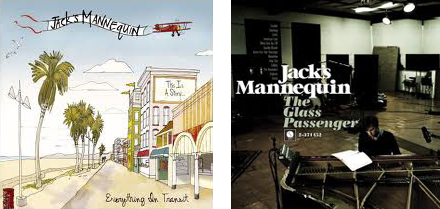 Jack's Mannequin cover art for Everything in Transit and The Glass Passenger