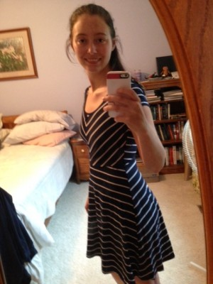 Spencer Striped Jersey Dress