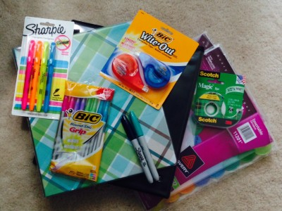 back to school supplies