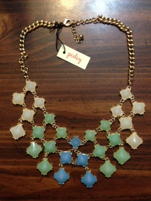 Lenora Square Gem Bib Necklace